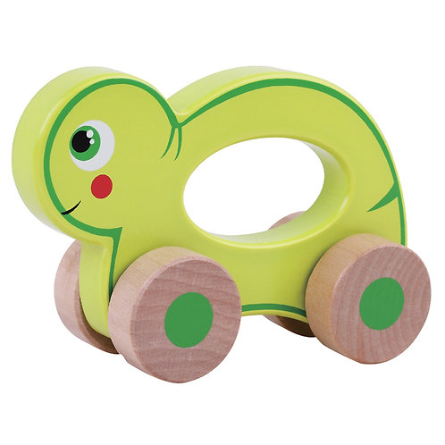 Push Along Wooden Turtle