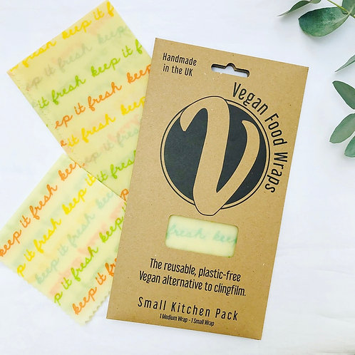Vegan Wax Wraps - Small Kitchen Pack