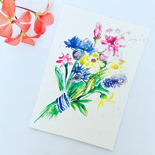 Plantable Seed Card - Bunch of Flowers