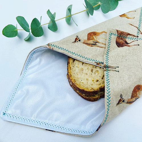 Reusable Sandwich Wrap - Deer