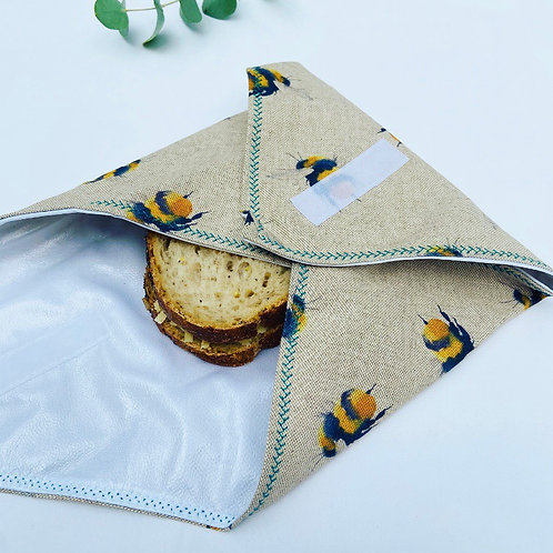 Reusable Sandwich Wrap - Bees