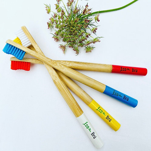 Pack of 4 Bamboo Toothbrushes
