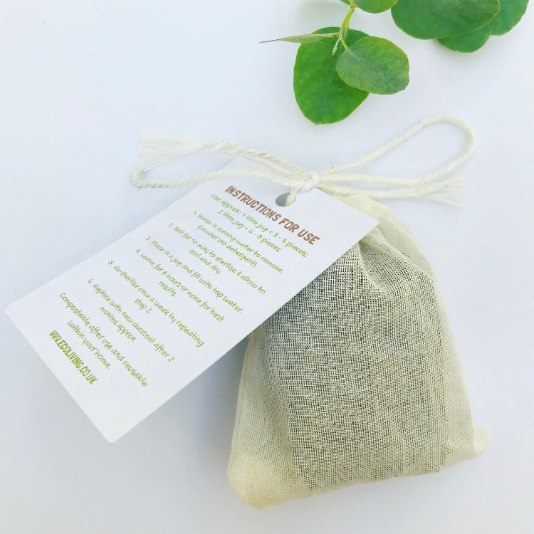 Bamboo Charcoal Water Filters - Pack of 4 | Turtley Eco