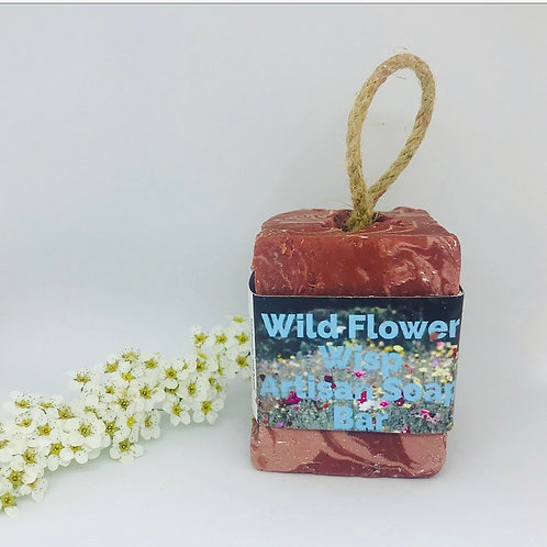 Soap on a rope - Wildflower