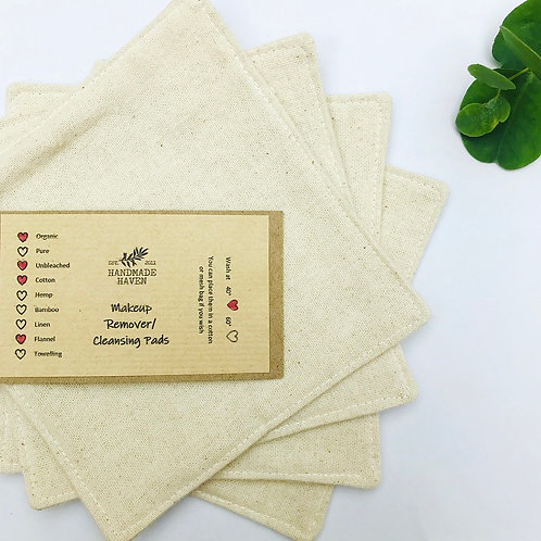 Large Organic Cotton Flannel Cleanser Pads - Pack of 4