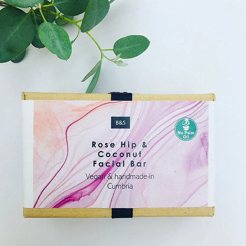 Rose Hip and Coconut Facial Bar