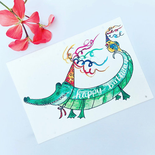 Plantable Seed Card - Happy Birthday Alligator