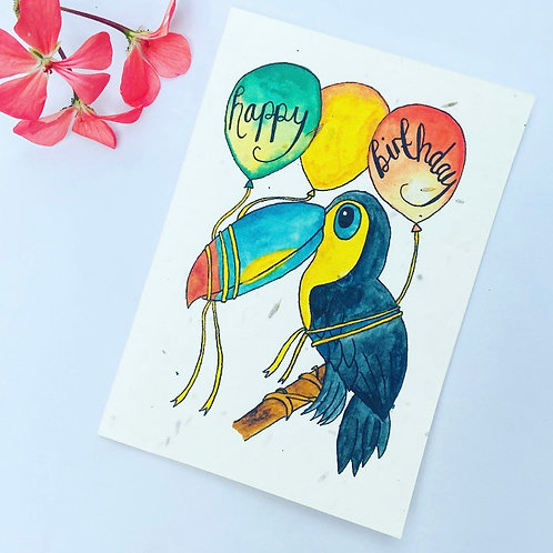 Plantable Seed Card - Happy Birthday Toucan