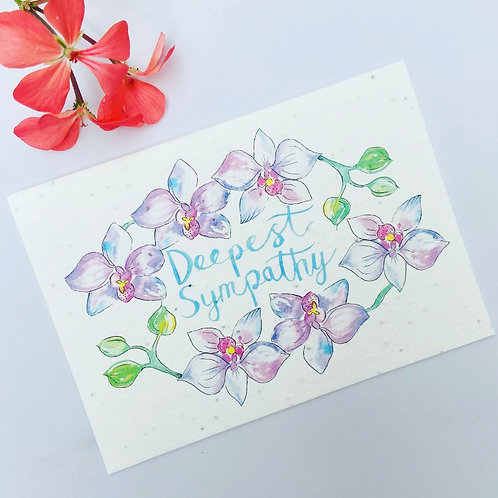 Plantable Seed Card - Deepest Sympathy