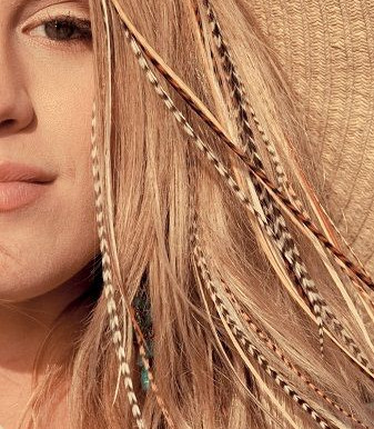 Feather hair extensions....the coolest temporary hair accessory!