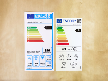 Changes to Energy Labels On White Goods and Electrical Appliances