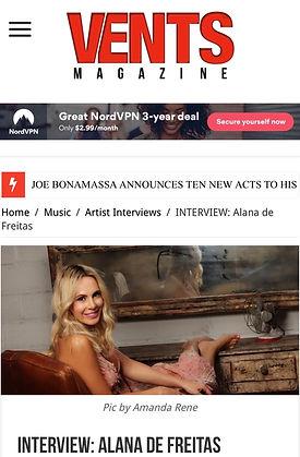 Alana de Freitas Vents Magazine