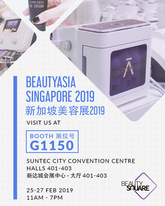 See you @ BeautyAsia Singapore 2019 Booth G1150!