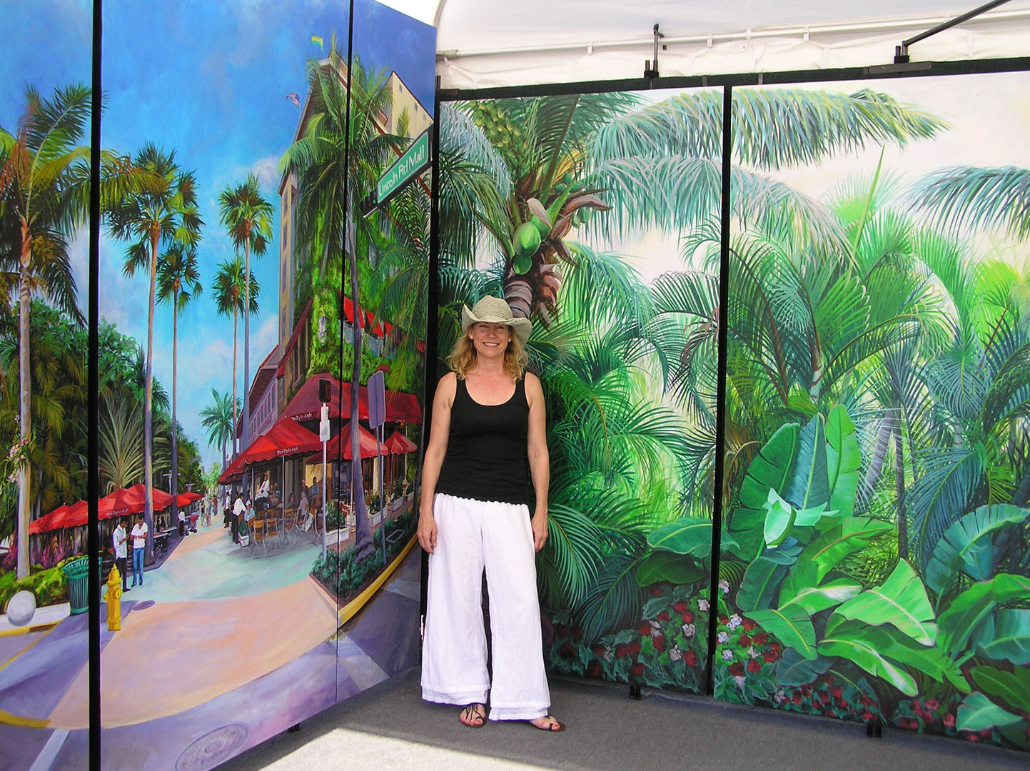 Lincoln Rd, White Bird of Paradise Triptychs