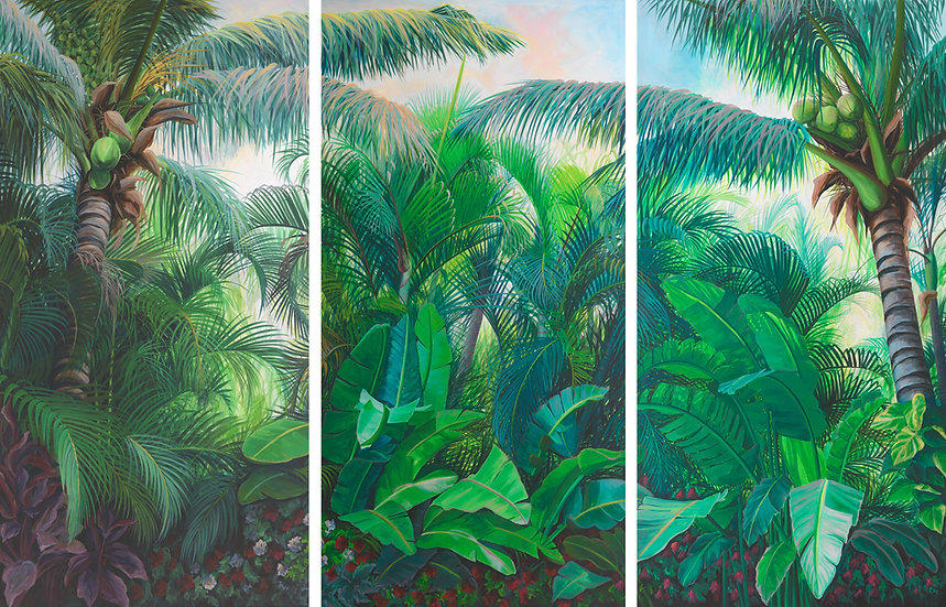 White Bird of Paradise Triptych