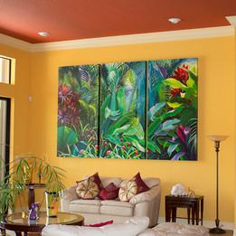 Tropical Foliage VI-Triptych