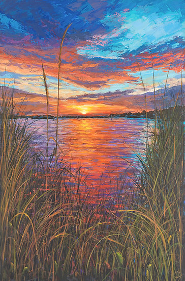 Sunset IX - Sunset on the Loxahatchee River (Vertical)