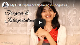 First Time Speaking In Tongues