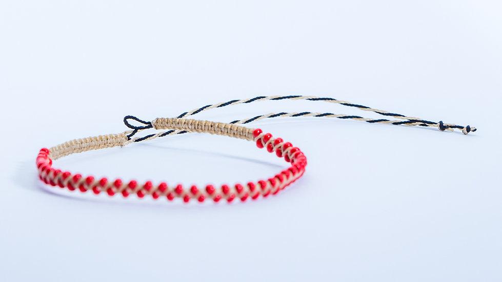 Guatapé Bracelet Nude/Red