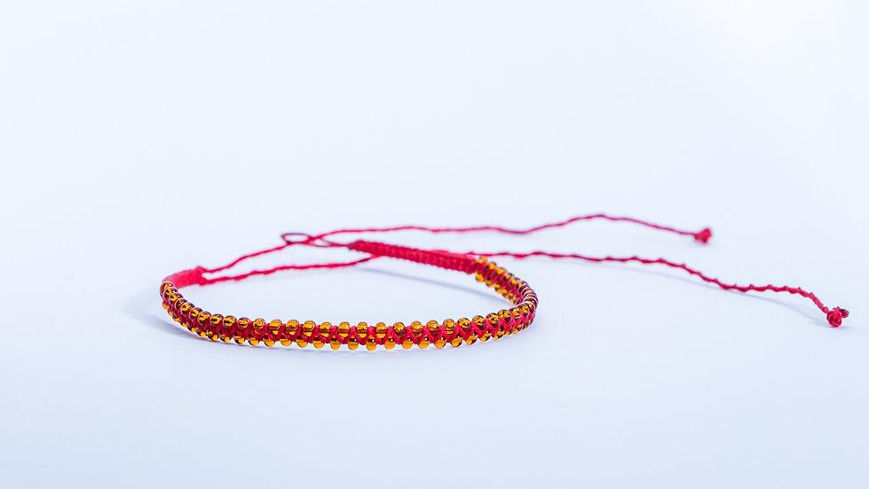 Guatapé Bracelet Glass Red