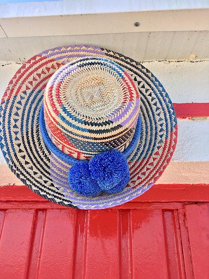 Colombian Wayuu hat    Straw   Kalekale   upper view