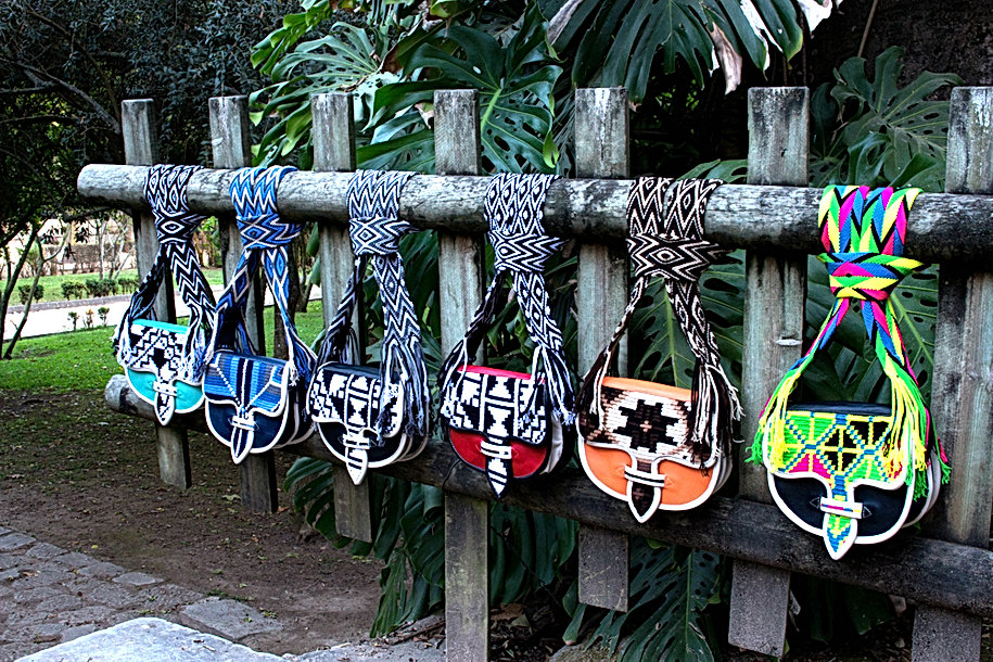 wayuu leather bags Colombia