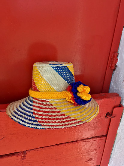 Colombian Wayuu hat | multi Straw | Kalekale | frontal view