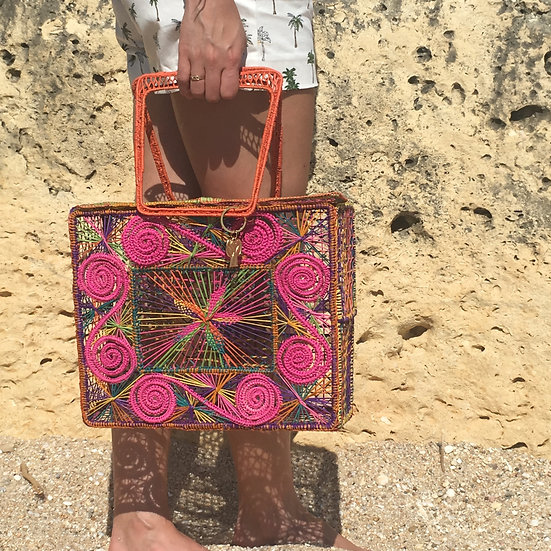 Straw bags handmade iraca palm kale kale