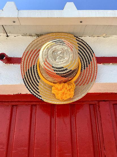 Colombian Wayuu hat |Yellow Straw | Kalekale | upper view