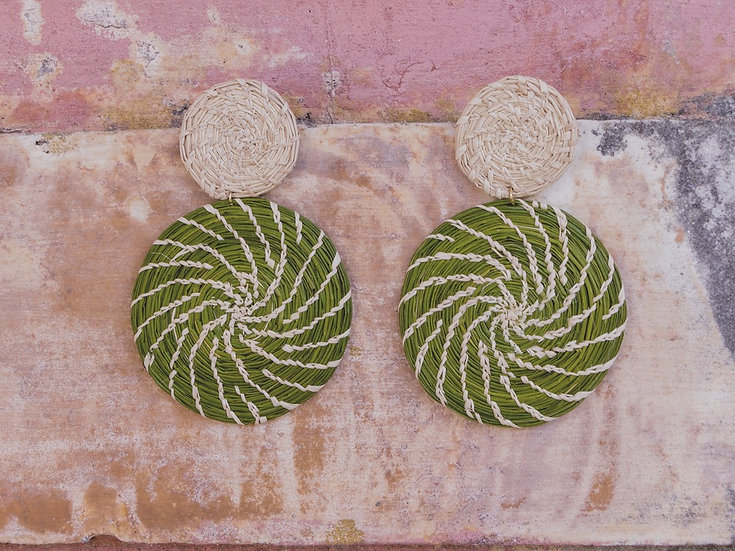 San Juan Green Earrings