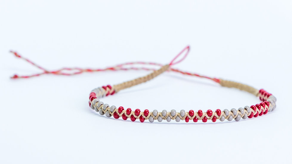 Guatapé Bracelet Grey/Red