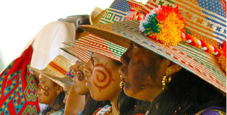 wayuu womens wearing hats.
