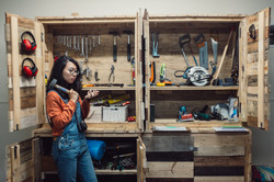 Rara and tool cabinet
