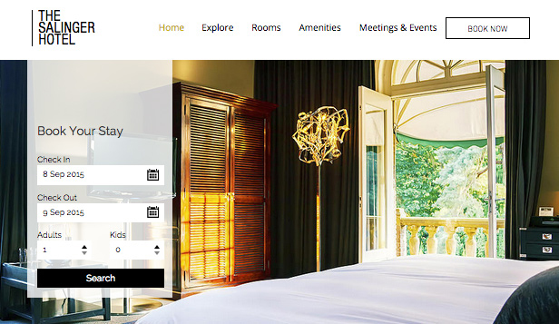 Accommodation website templates – Modern Hotel
