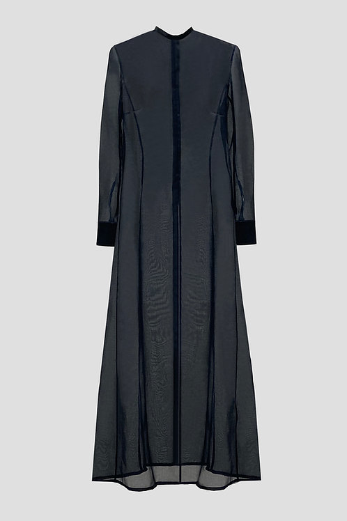 SEMI TRANSPARENT SILK DRESS