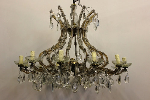 ANTIQUES FRENCH STYLE CLEAR GLASS CHANDELIER - MARIE ANTOINETTE - 12 LIGHTS C303