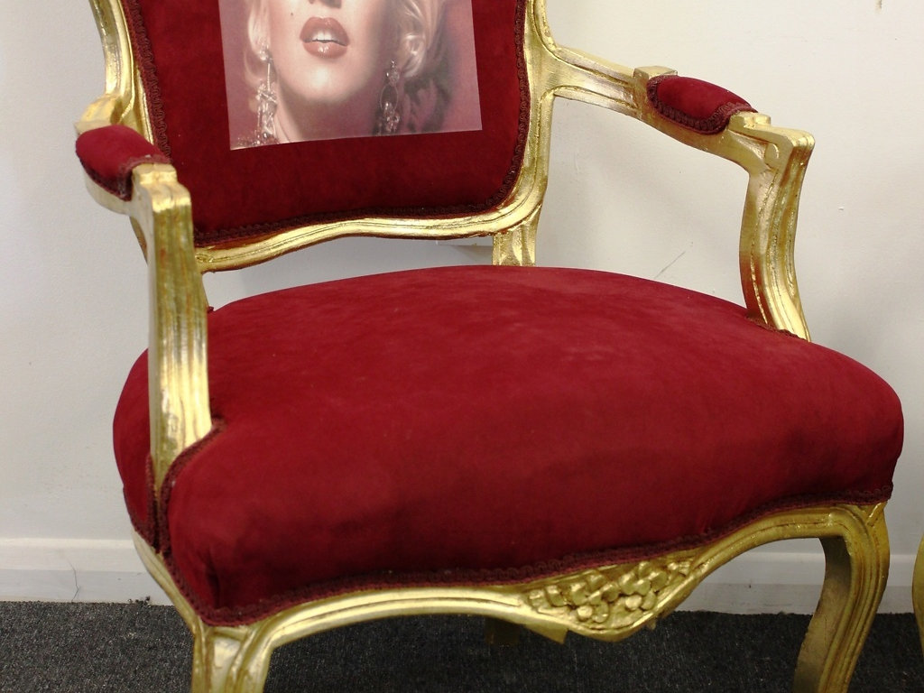 Marilyn monroe french chair - French Style Furniture Gold Red Louis Armchairs Marilyn Monroe C321
