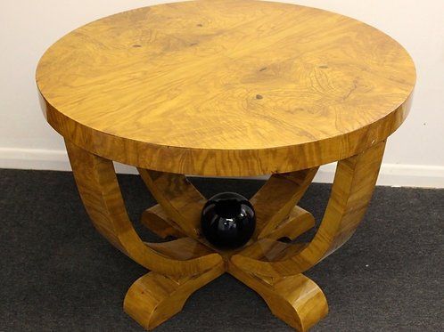 ART DECO STYLE FURNITURE - OCCASIONAL ROUND TABLE - IN WALNUT - C1