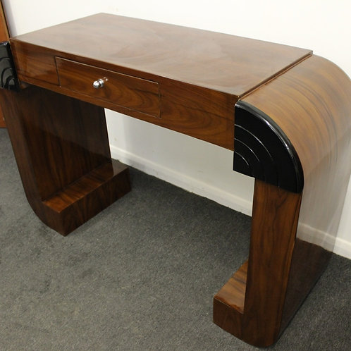 ANTIQUE ART DECO STYLE CONSOLE HALL TABLE IN ROSEWOOD WITH DRAWER - HOME - C438