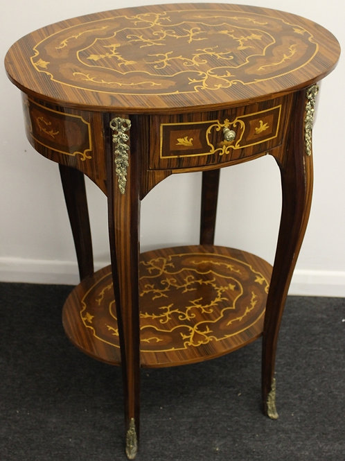 LOUIS XIV STYLE FURNITURE HALL | CONSOLE | OCCASIONAL INLAY SIDE TABLE C17