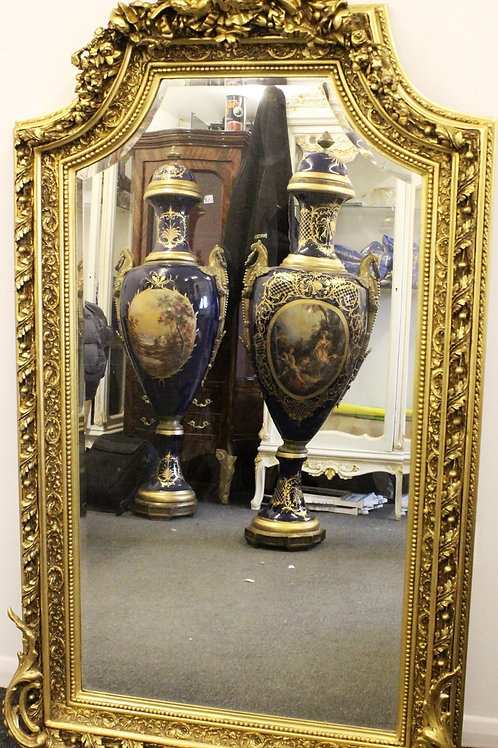 ANTIQUE FRENCH STYLE GOLD FRENCH MIRROR - C283