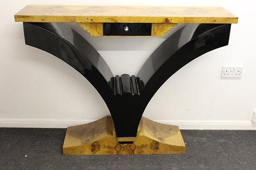 ANTIQUE ART DECO STYLE FURNITURE WALNUT CONSOLE   HALL   HALLWAY TABLE C59