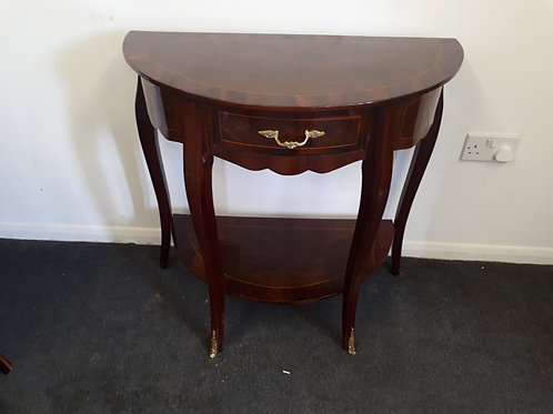 HALF CIRCLE OCCASIONAL TABLE WITH DRAWER - 566