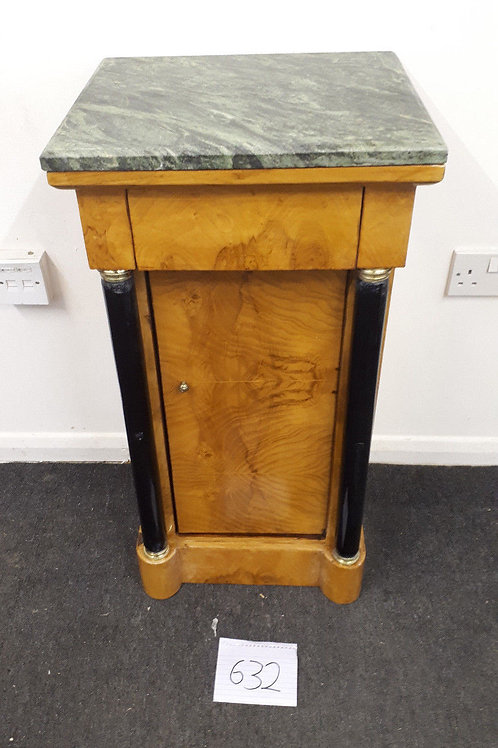 FRENCH IMPERIAL POP CUBOARD WITH MARBLE TOP - 632