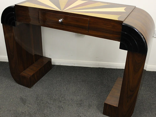 ANTIQUE ART DECO STYLE CONSOLE HALL TABLE IN ROSEWOOD WITH DRAWER - HOME - C437