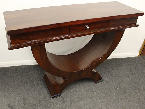 ART DECO FURNITURE CONSOLE HALL TABLE - IN ROSEWOOD - HOME - INTERIORS C409