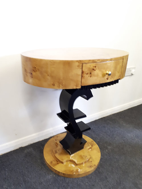 ART DECO STYLE OVAL OCCASIONAL TABLE - 504