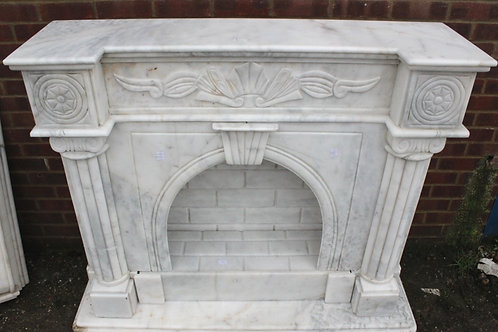 ITALIAN WHITE MARBLE FIREPLACE | C457 - HOME FURNISHING - HOUSE