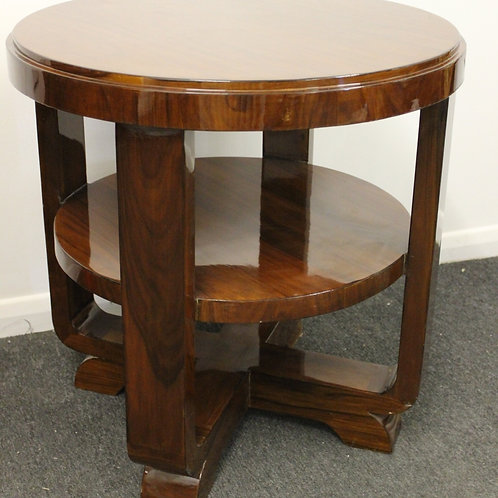 ART DECO STYLE FURNITURE - OCCASIONAL ROUND TABLE - IN ROSEWOOD - C255