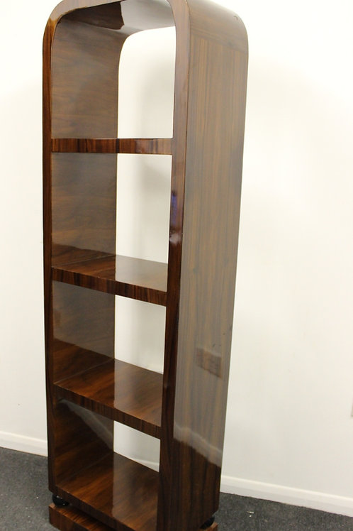ANTIQUE ART DECO STYLE FURNITURE BOOKCASE IN ROSEWOOD LIBRARY SHELF UNIT - C216